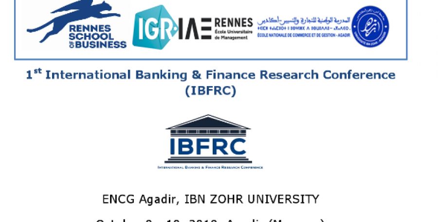 Appel à communications de la 1st International Banking and Finance Research Conference (IBFRC)